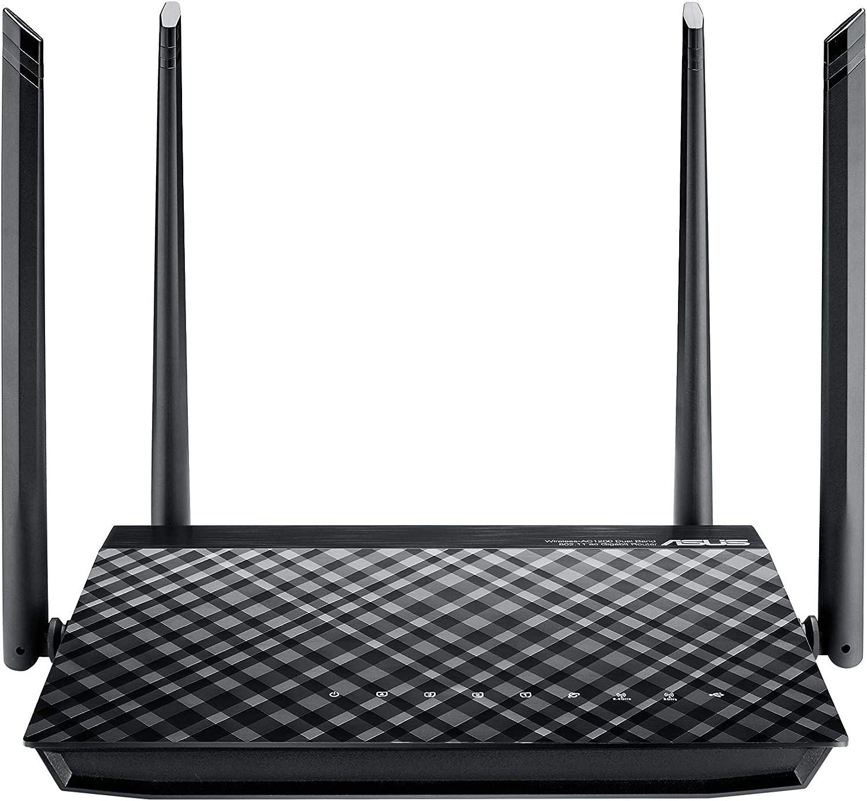 ASUS RT-AC57U - Router Inalámbrico AC1200 Doble Banda Gigabit (Control parental, Modo Punto de Acceso, MU-MIMO, ASUS Router APP)