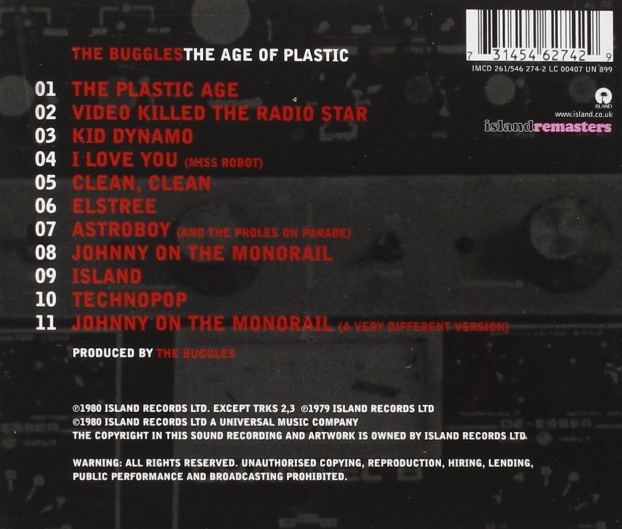Age of Plastic (+3 Bonus Tracks) by Universal-Island Records