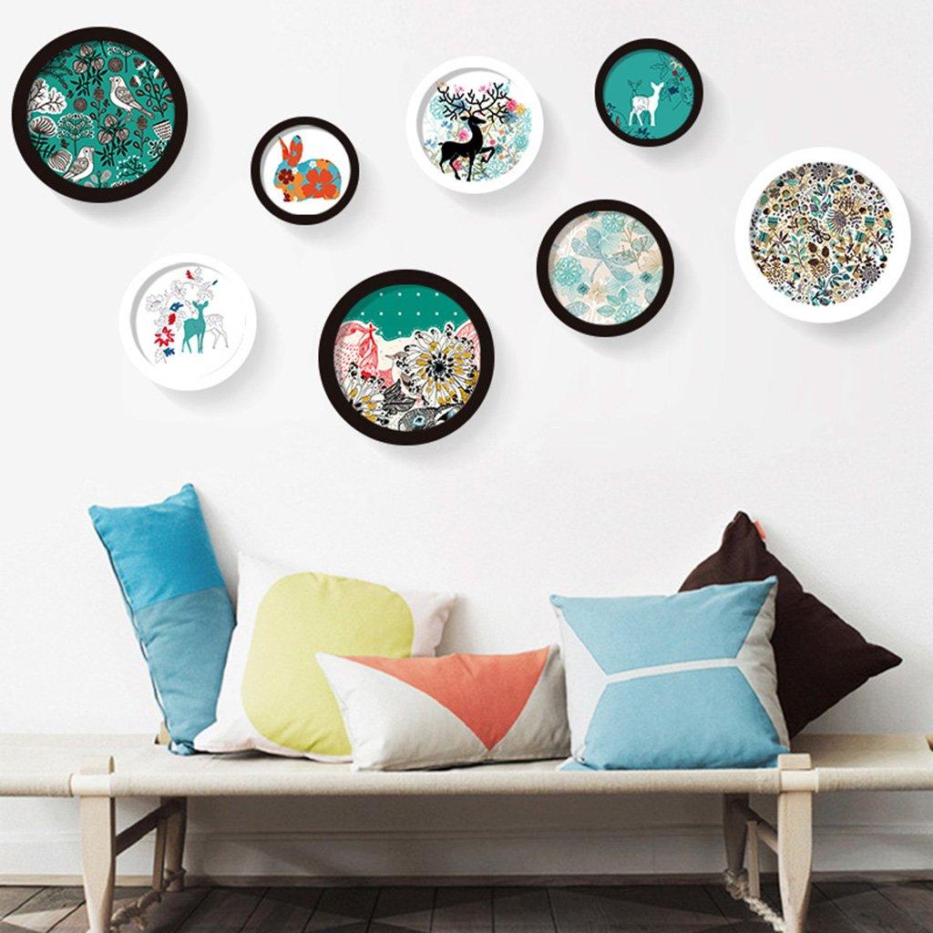 &Dekorative Wände Runde Einfache Bilderrahmen Wand Sets von 8 ...