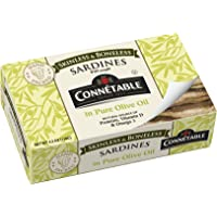Connetable Skinless and Boneless Sardines in Pure Olive oil, 4.2 Ounce (Pack of 12)
