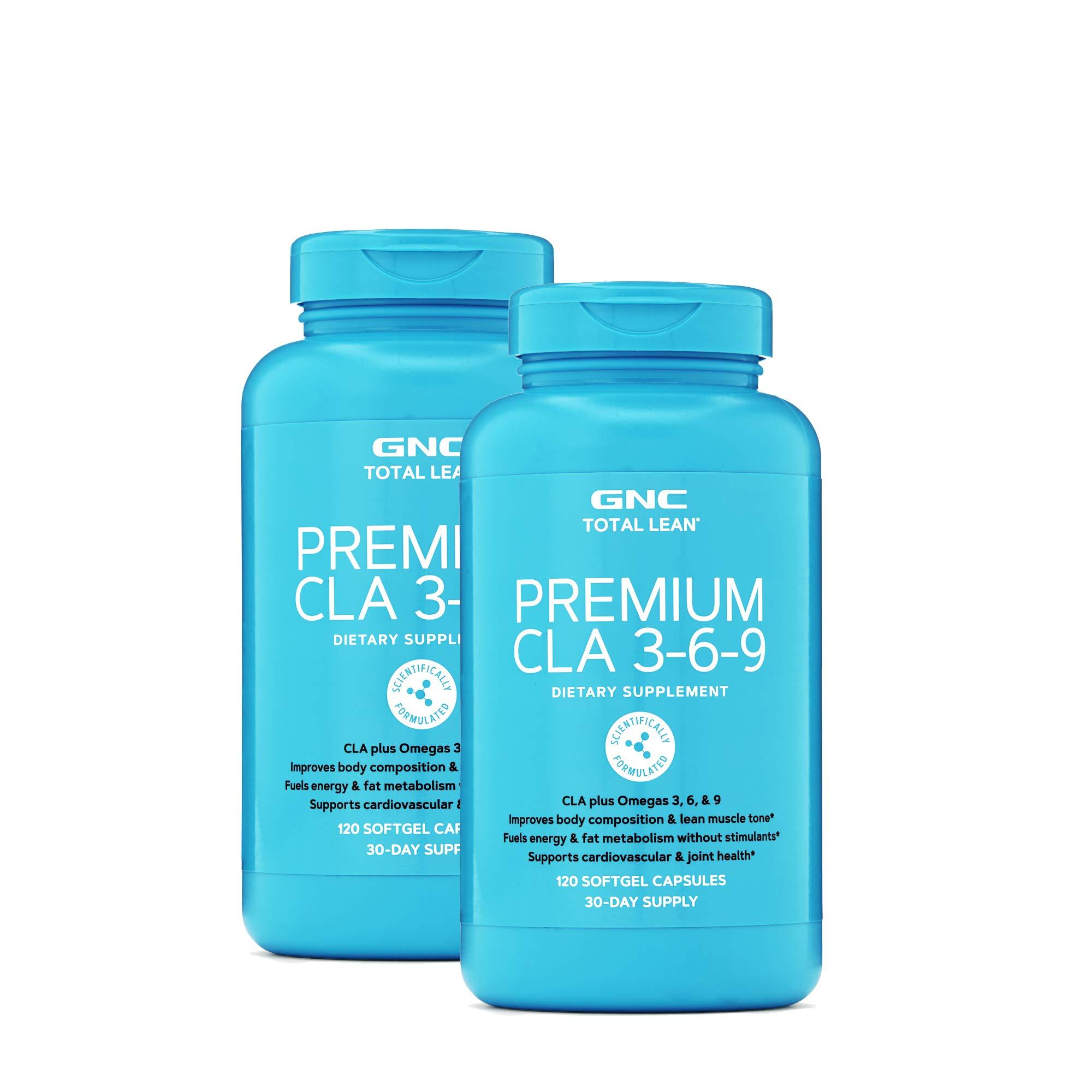 GNC Total Lean Premium CLA 3-6-9 - Twin Pack