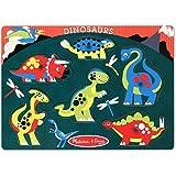 Melissa & Doug Dinosaurs Wooden Peg Puzzle (6 pcs)