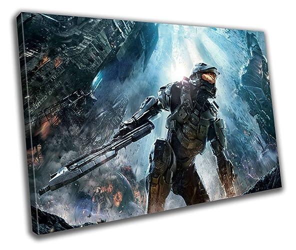 Halo Gaming Canvas Print - Wall Art - Framed print - Ready To Hang ...