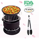 Air Fryer Accessories Deep Fryer Gowise Phillips Avalon Bay and More, 6-pieces Air Fryer Baking Pan Skewer Rack Barrel Silicone Mat Set Fit all 3.7QT &5.3QT & 5.8QT (2017 Upgrade)