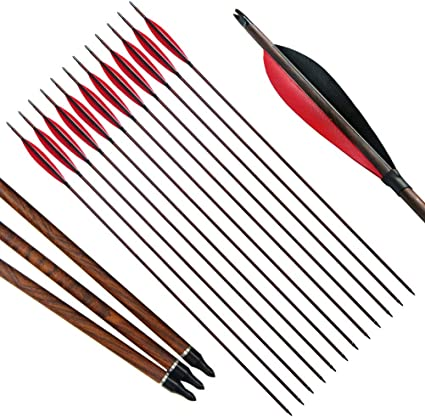 12 TRADITIONAL ARCHERY FULL LENGTH  FEATHERS FOR ARROWS AND HORSE BOWS