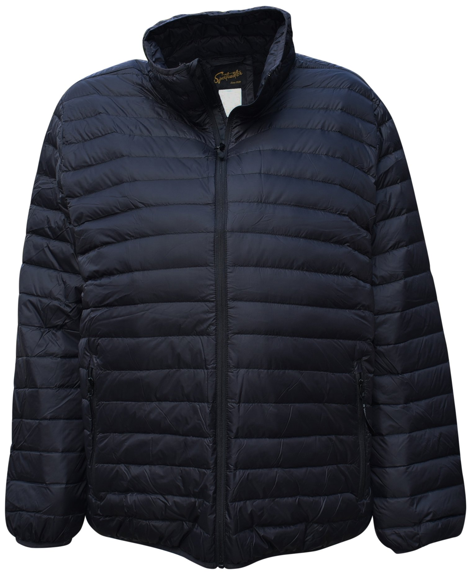 SportCaster Mens Big Sizes Packable Down Jacket (3XL, Black) by SportCaster