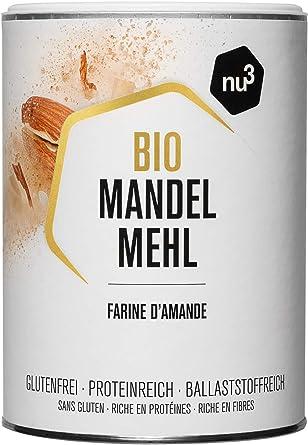 nu3 Harina de Almendras Ecológica – 420 g de almendra española molida – Alternativa para cocinar sin gluten - 51% de proteína – Menos carbohidratos ...