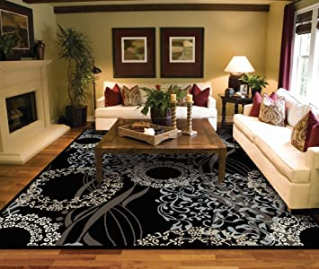 Large Rugs for Living Room 8x10 Black Area Rugs 8x10 Under 100