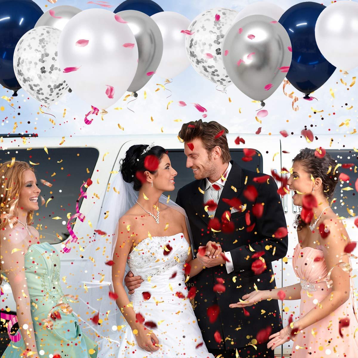 Disney Princess Blue Confetti 60 Confetti Balloon Latex Helium Balloons 12 Inch for Girls Birthday /& Christening Wedding Party Decorations JOJOR 60 Pieces Pink Balloons Baby Shower