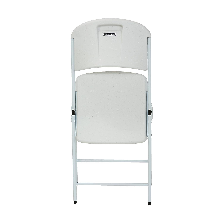 Amazon Lifetime Classic mercial Folding Chair White