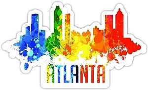 """Atlanta Georgia City Skyline - Laptop Stickers - 4"""" Vinyl Decal - Laptop, Phone, Tablet Vinyl Decal Sticker"""