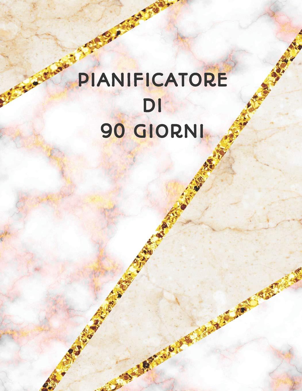 Pianificatore di 90 Giorni: Mosaico Marmo Beige Rosa e Oro ...