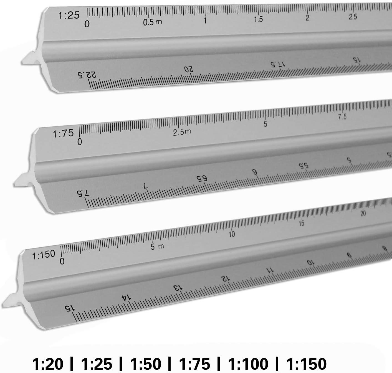 125 Kunststoff Maßstab Maßstab Lineal ho 1:20 1:25 1:50 1:75 1 100 1