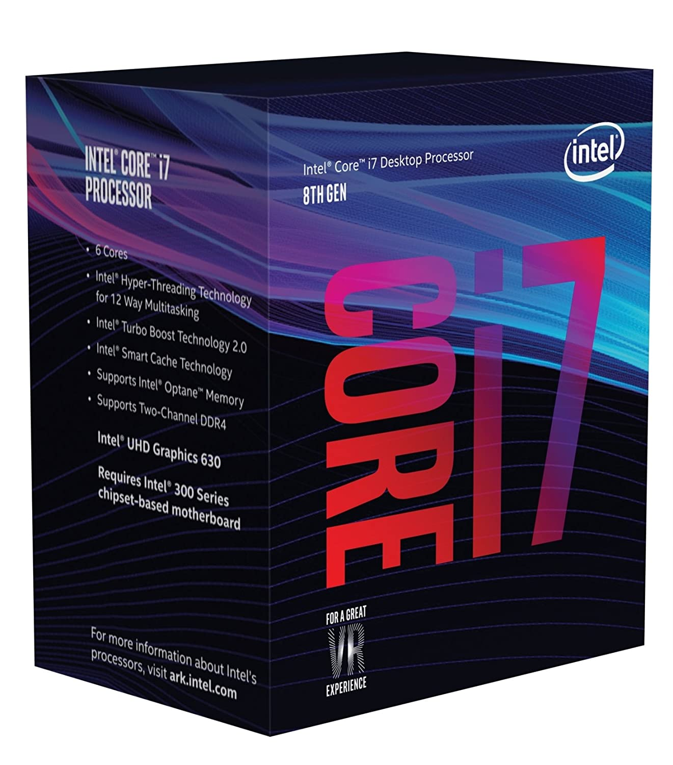 Intel Coffee Lake BX80684I78700 8th Gen Core i7-8700 Six Core Processor - OEM Tray Version