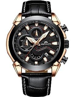 f30a6c8fe1502 Montre Homme Noir Montre Bracelet de Luxe Mode Etanche Chronographe Sport  Date Calendrier Quartz Analogique Montres