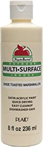 Apple Barrel Multi-Surface Paint in Assorted Colors (8 oz), Toasted Marshmallow