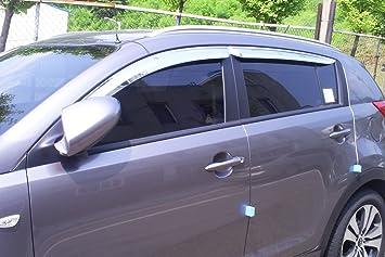 Autoclover Windabweiser Set Für Kia Sportage 2010 2015 Chrom 4 Teilig Auto