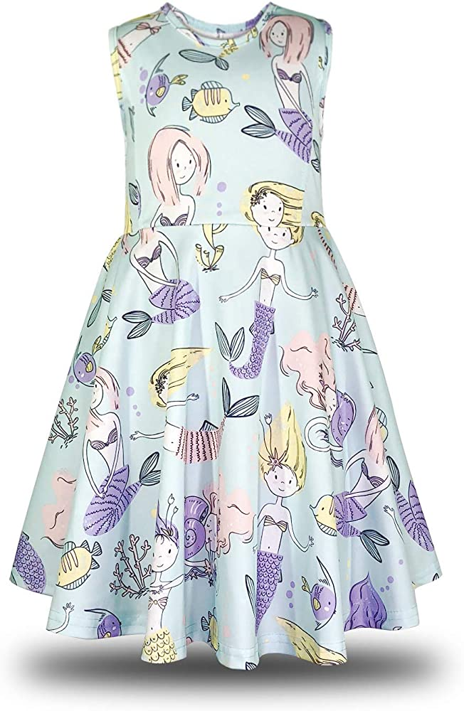 Minilove Girls Unicorn Dinosaur Dress