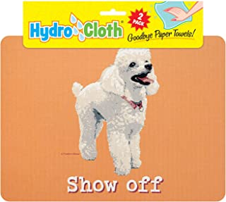 product image for Fiddler's Elbow Hydro Cloth Dog Breed Dishcloths | Set of 2 | Eco-Friendly Dish Cloths | Paper Towel Replacements (Poodle)