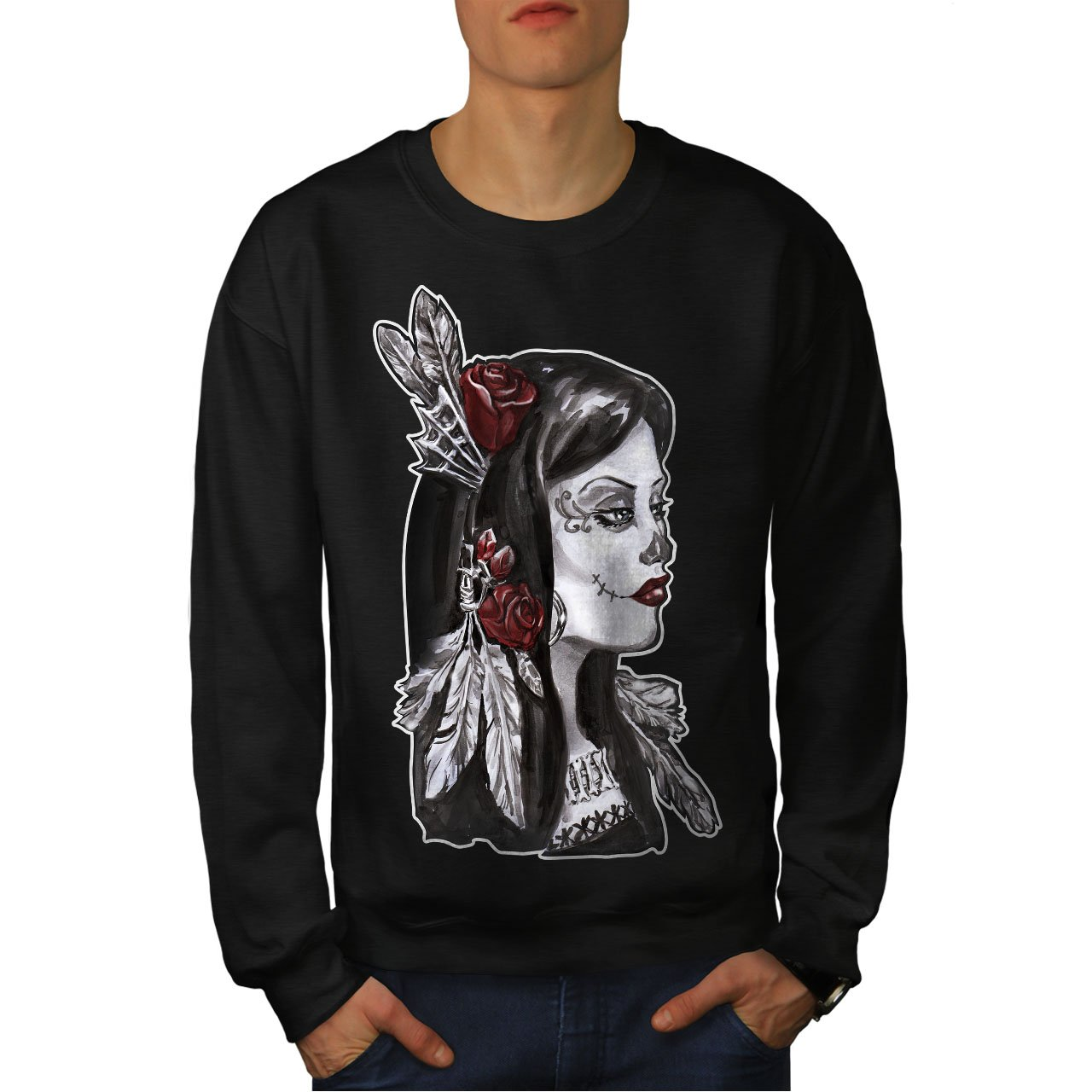 Death Casual Jumper wellcoda Native Metal Rock Mens Sweatshirt