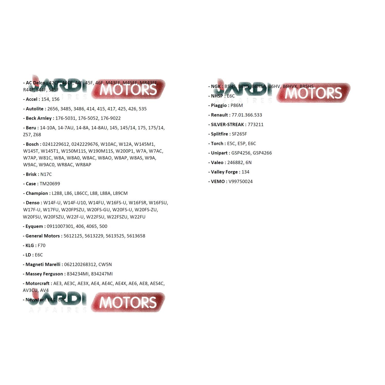 Vela Champion L86C para Motor t/érmico Jardiaffaires