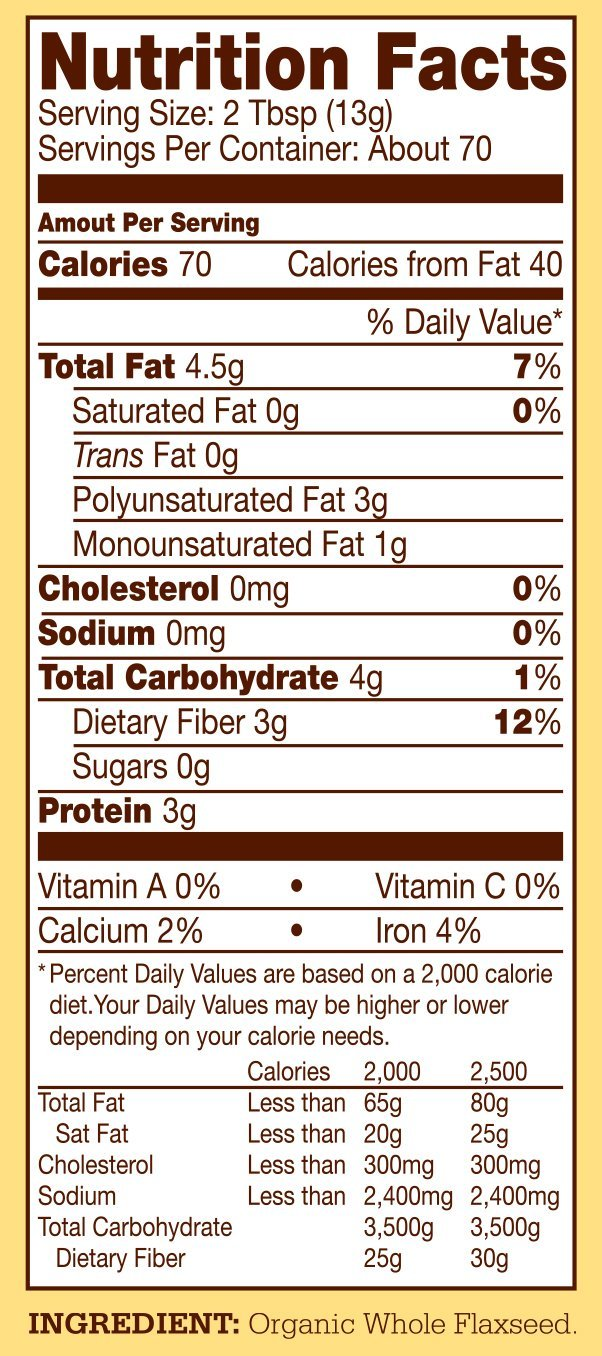 Bob's Red Mill Organic Brown Flaxseed Meal, 32-ounce (Package May Vary) by Bob's Red Mill (Image #8)