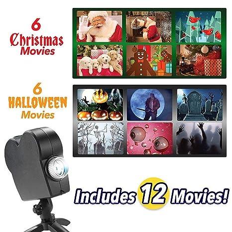 Impresiona a Tus vecinos Navidad Proyector de Ventana de Halloween ...
