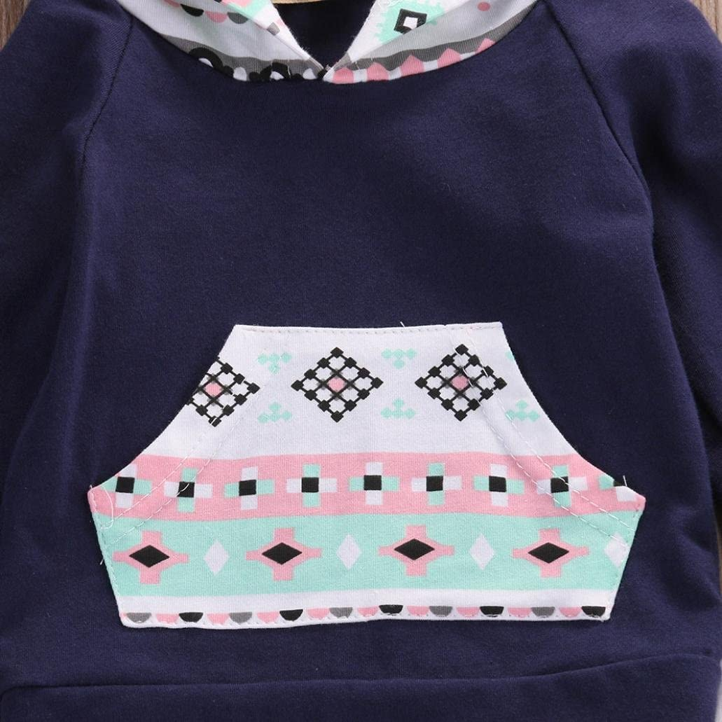 Lingery Toddler Infant Baby Girl Boy Outfits Clothes Geometric Hooded Tops+Pants