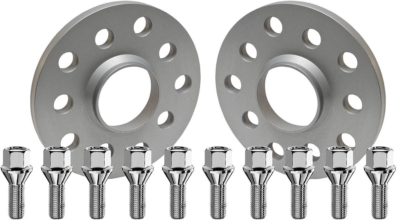 2x10mm Silber eloxiert mit Radschrauben f/ür Mercedes Benz SCC Fahrzeugtechnik Distanzscheiben Set 20mm