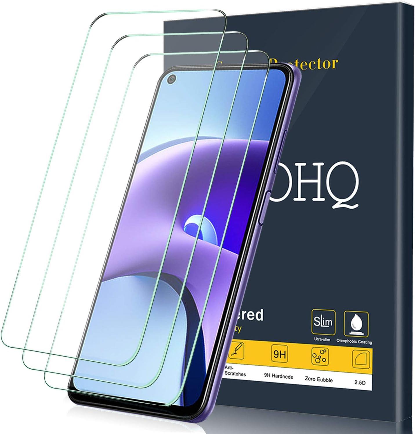 QHOHQ 3 Piezas Protector de Pantalla para Xiaomi Redmi Note 9T 5G, Cristal Templado Membrana,9H Dureza - HD - Anti-Arañazos - Sin Burbujas - Fácil de Instalar