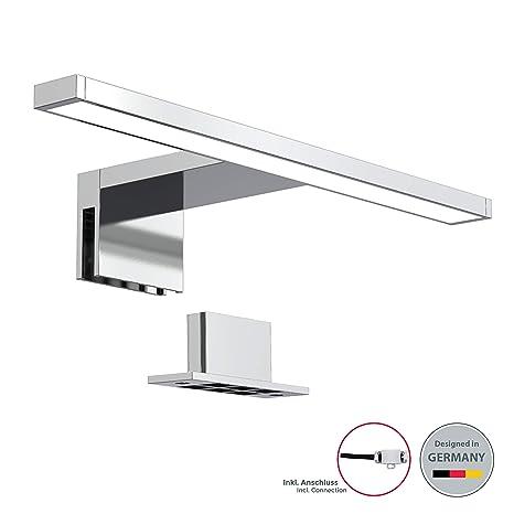 Lámpara espejo de baño LED IP44 5W 230V 30x10,3x3,6cm I Blanco frío 4000k 500lm I pinza + armario I Luz de tocador I Aplique iluminacuadros