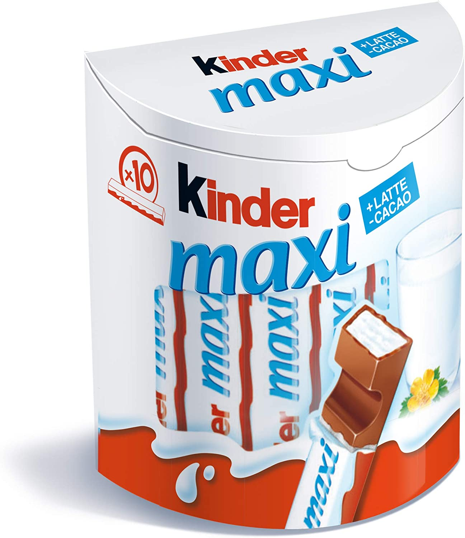 Kinder Maxi Tavolette Cioccolato Latte, 10 x 21 g: Amazon.es ...