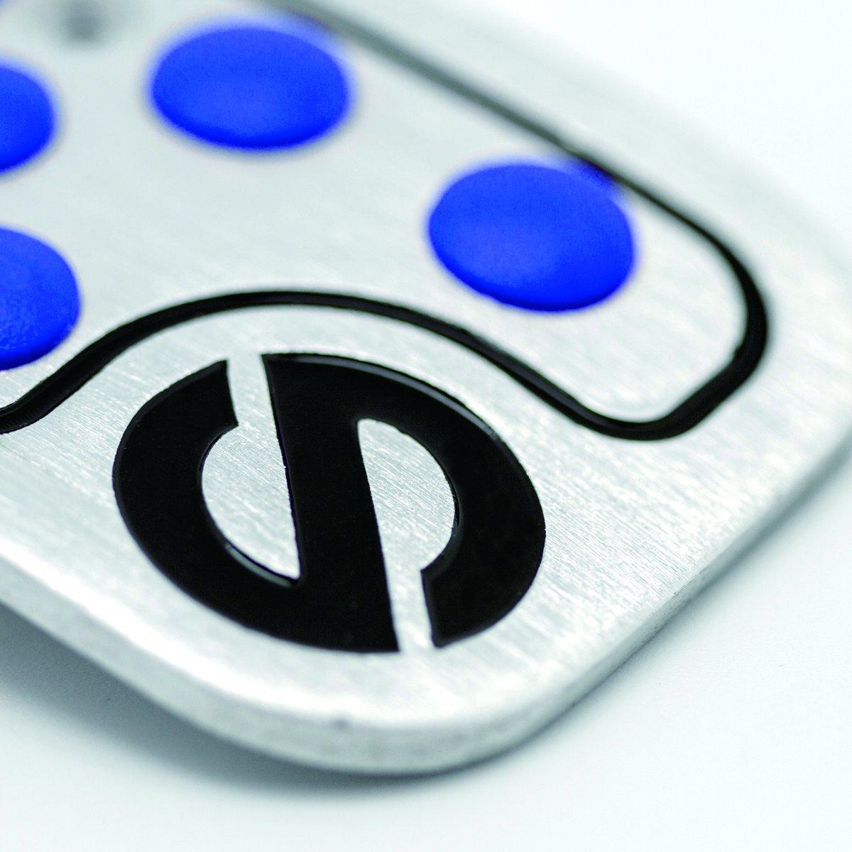 Racing pedal set blue rubber