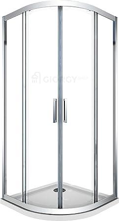 Cabina de ducha curvada semicircular, angular, redonda, 80 x 80 cm 90x90 cm 190 cm de