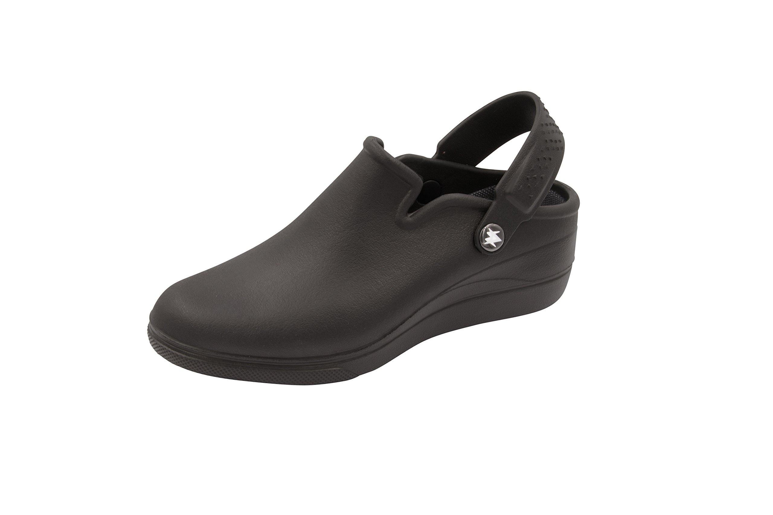 Anywear Women's Peak Health Care Professional Shoe, Black on Black, 8.0 Medium US