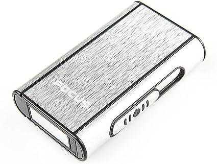 Imagen deFocus Estuche de Cigarrillos automático de Aluminio (9.5cm x 5.7cm x 1.8cm), de Color Plata, 464-01 DE