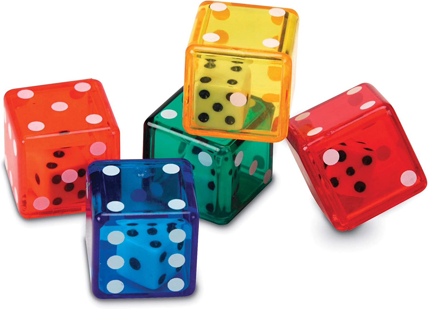 Learning Resources Dice In Dice Bucket, Math Toy, Manipulative, Set of 72