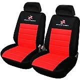 WOLTU AS7257-2 2 ??fundas de asiento para coche universal con asiento único cubre asiento delantero cubre asiento, conjunto completo, rojo