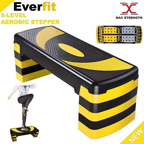 Adjustable Aerobic Step Exercise Stepper Cardio Yoga Workout Fitness Gym Blocks