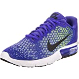 48a0c7f3cfb NIKE New Men s Air Max Sequent 2 Running Shoe Paramount Blue Volt 10.5