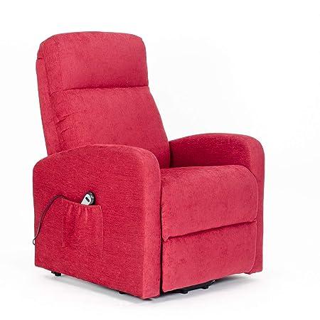 Sillon-Relax - Sillón eléctrico, levantapersona, 1 mot. reclinación combinada, reposapies anticipado, Asiento Suave no deformable, Mejor Precio ...