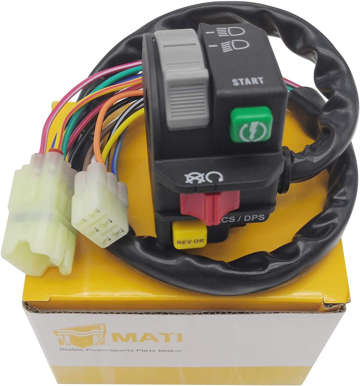 M MATI Left Handlebar Control Switch Start Run Off Headlight Reverse ACS DPS for Can-Am ATV Outlander 400 500 650 800 1000 6X6 Renegade 800 1000 XXC 703500920