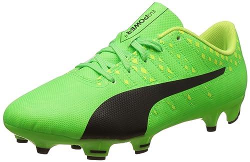 8fa2ff42f Puma Unisex Kids' Evopower Vigor 4 FG Jr Football Boots, (Green Gecko Black
