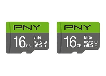 cbdf5ad77 Amazon.com  PNY 16GB 2-Pack Elite microSD Card (P-SDU16X2U185EL-GE ...