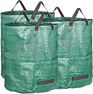 Taplong Jardín Bolsas de Basura Paquete de 2 Durable Jardín Bolsas 72Gallon Leaf Bolsas con Asas Reutilizable Yard Bolsas de desechos de Patio/jardín/césped,Verde: Amazon.es: Hogar