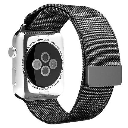 Ouneed For Apple Watch 38MM Correa Banda Magnética Milanese Loop Reloj de Acero Inoxidable de 38
