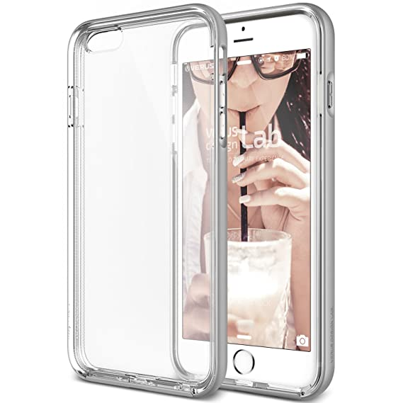 the best attitude 4a3bf 97c44 iPhone 6S Case, Verus [Crystal Bumper][Satin Silver] - [Clear  Cover][Military Grade Protection] For Apple iPhone 6 6S 4.7