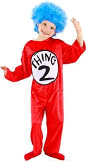 Dr. Seuss Thing 1 u0026 2 Costume for Kids 2T-4T by elope  sc 1 st  Amazon.com & Amazon.com: elope Dr. Seuss Thing 1 and 2 Kids Costume S 4-6 by ...