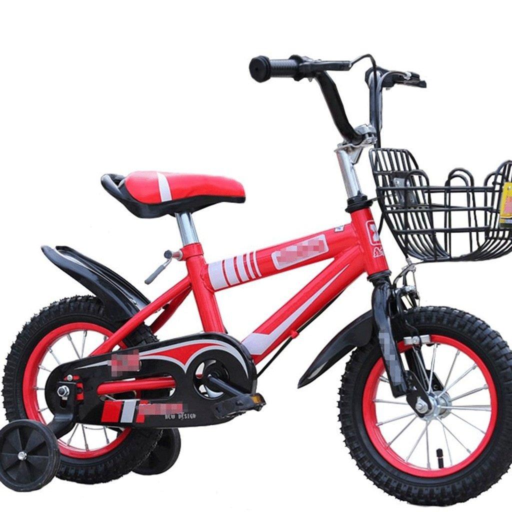 子供の自転車ベビーペダル自転車2-10歳の男の子と女の子マウンテンバイク (色 : 赤, サイズ さいず : 12インチ) B07DCH2518 12インチ 赤 赤 12インチ