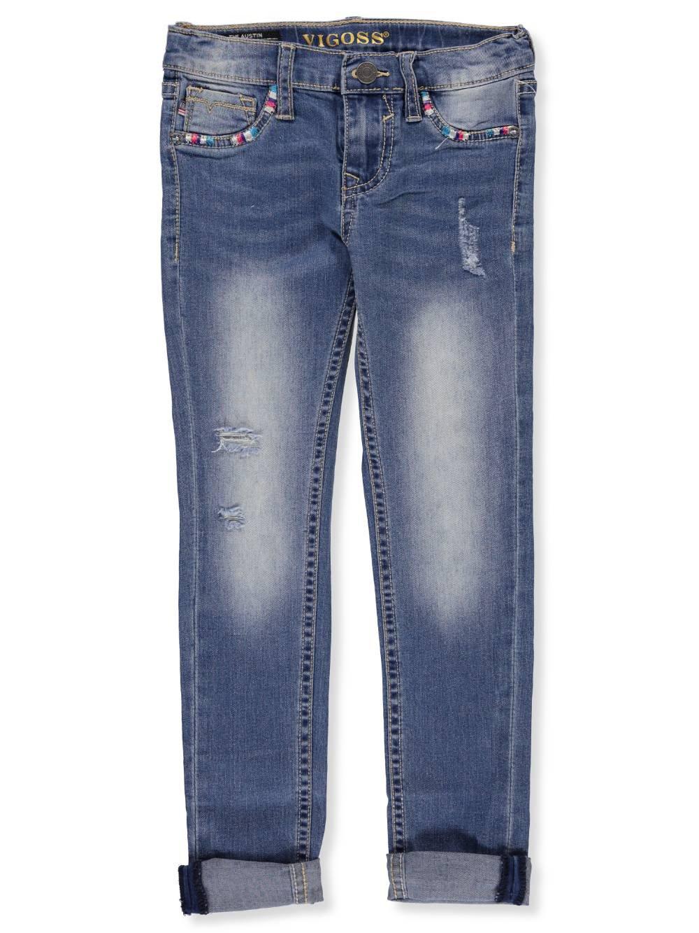 VIGOSS Big Girls' Fashion Jean, Multi True Blue, 8